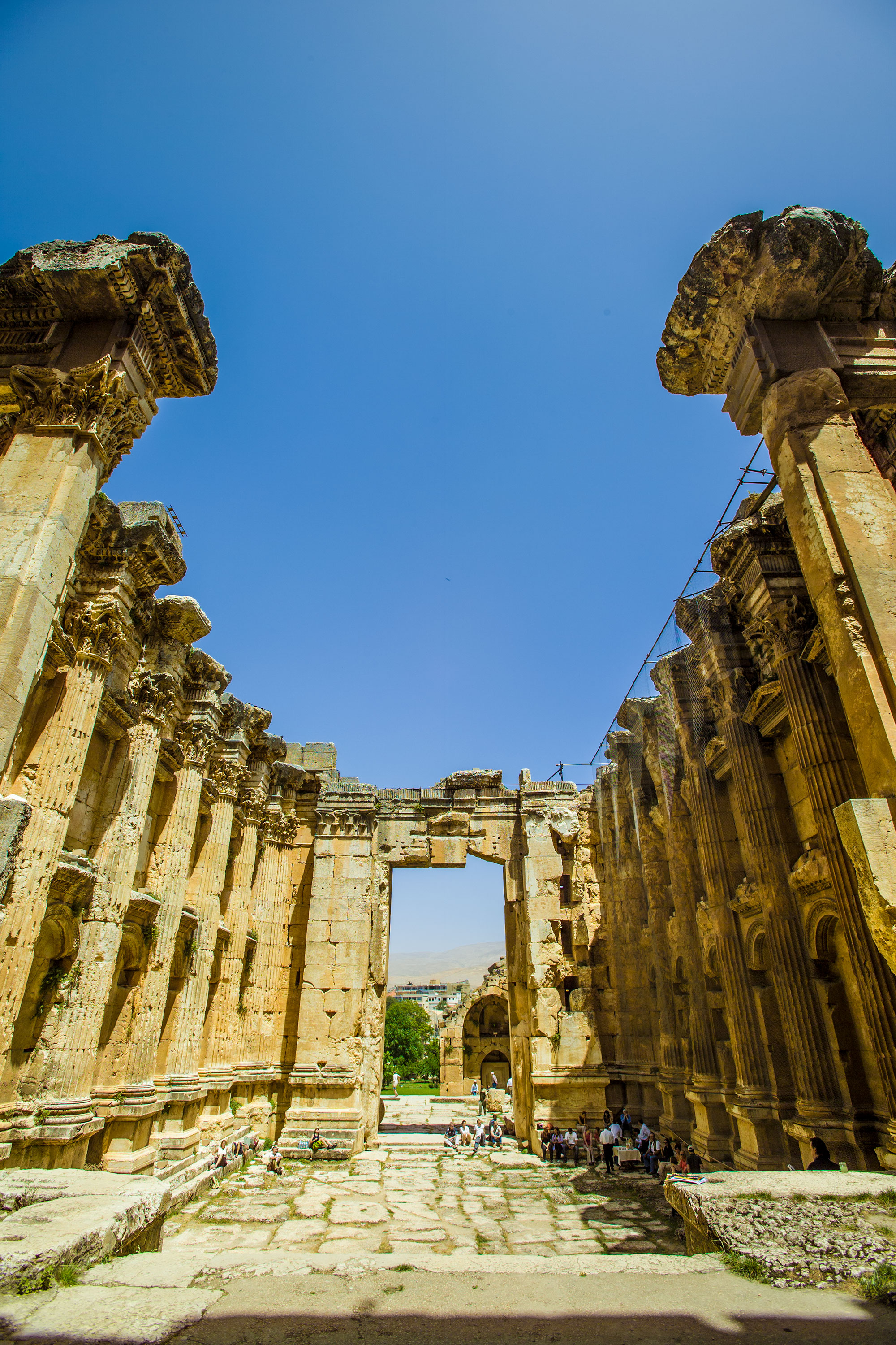 The Temple of Bacchus at Baalbek - Inside