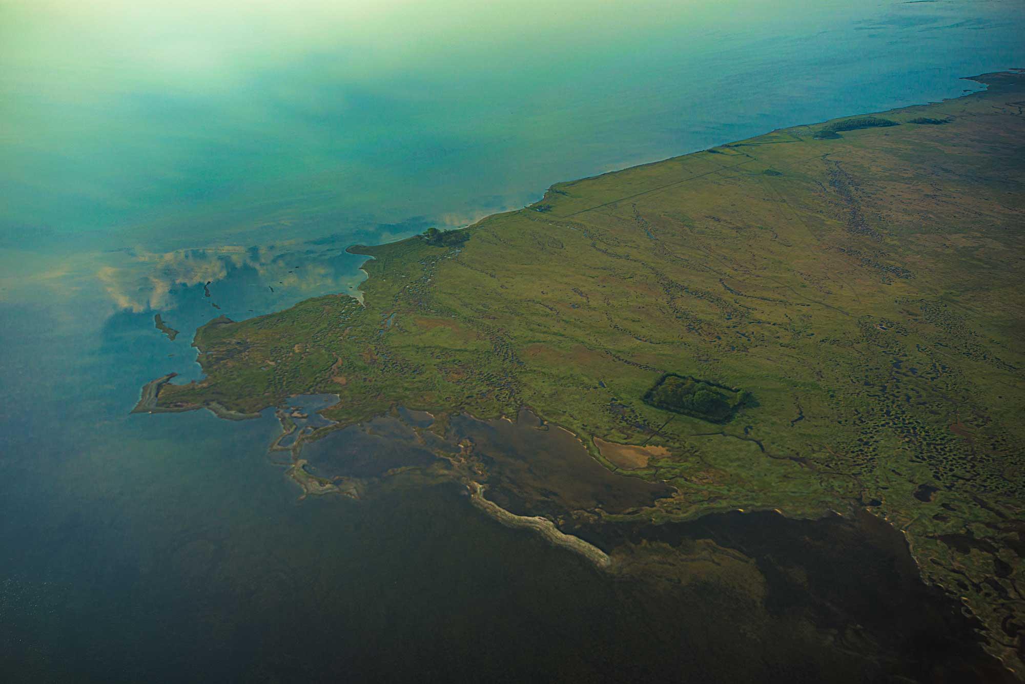 Luftfoto af Saltholm nordsiden