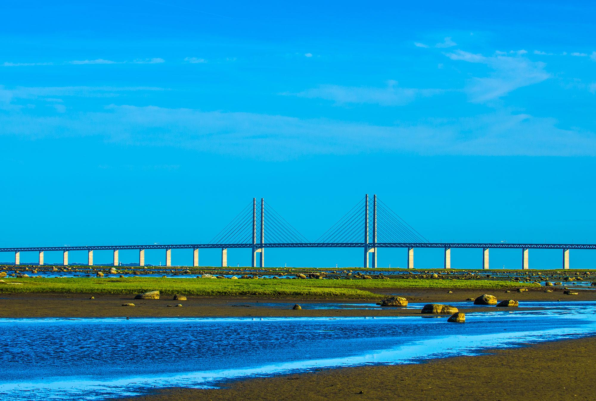 Øresundsbroen over Saltholm