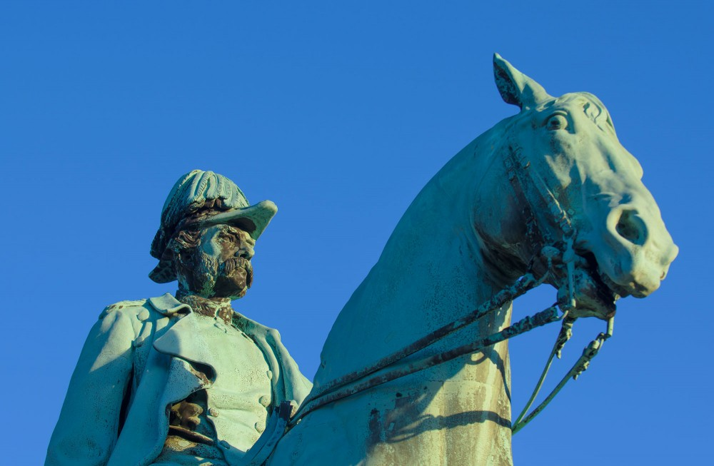 Rytterstatue af den Christian den niende foran Christiansborg. Også kaldt Christian IX.