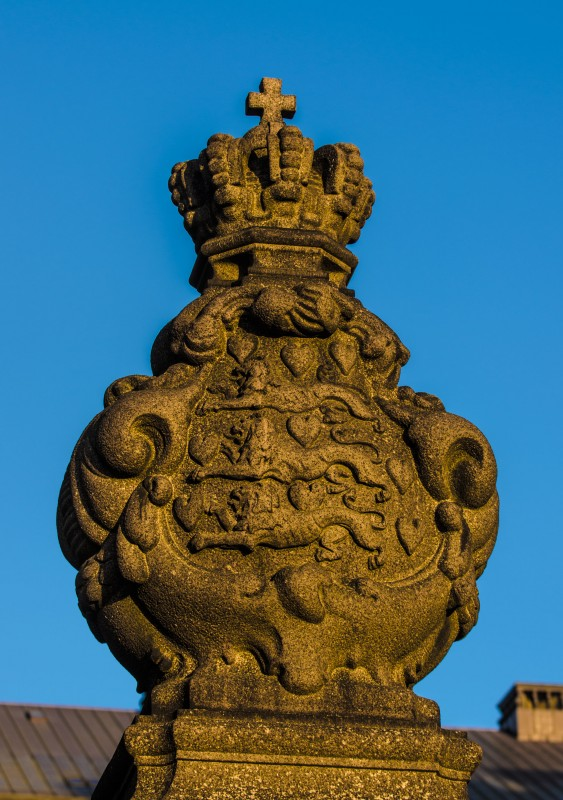 Christiansborg detalje med de tre løver.