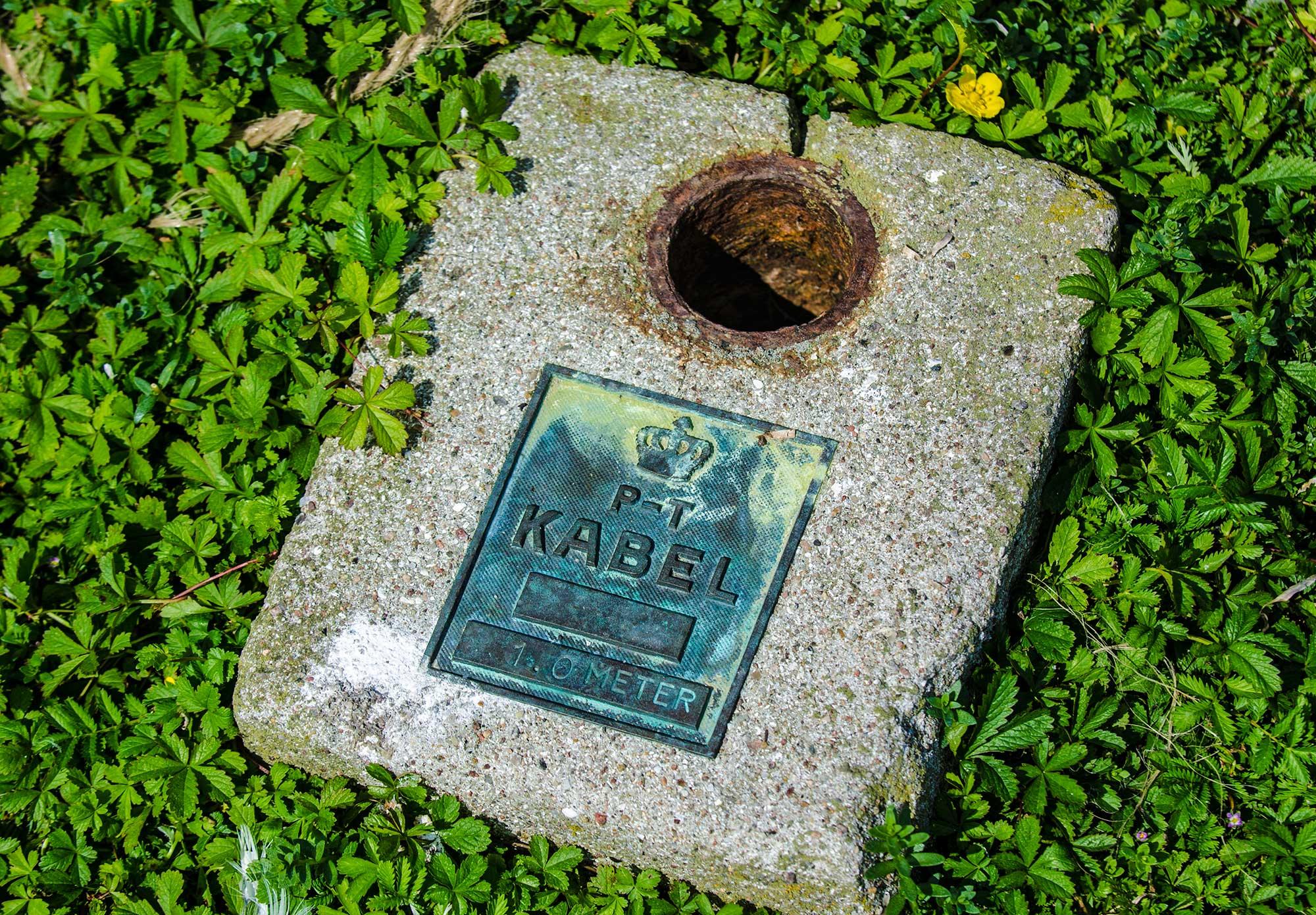 Under den kolde krig gik den røde telefonlinje fra Washington til Moskva gennem Øresund og igennem et lille hus på Saltholm. Her er kablet: Kabel P-T 1.0 Meter