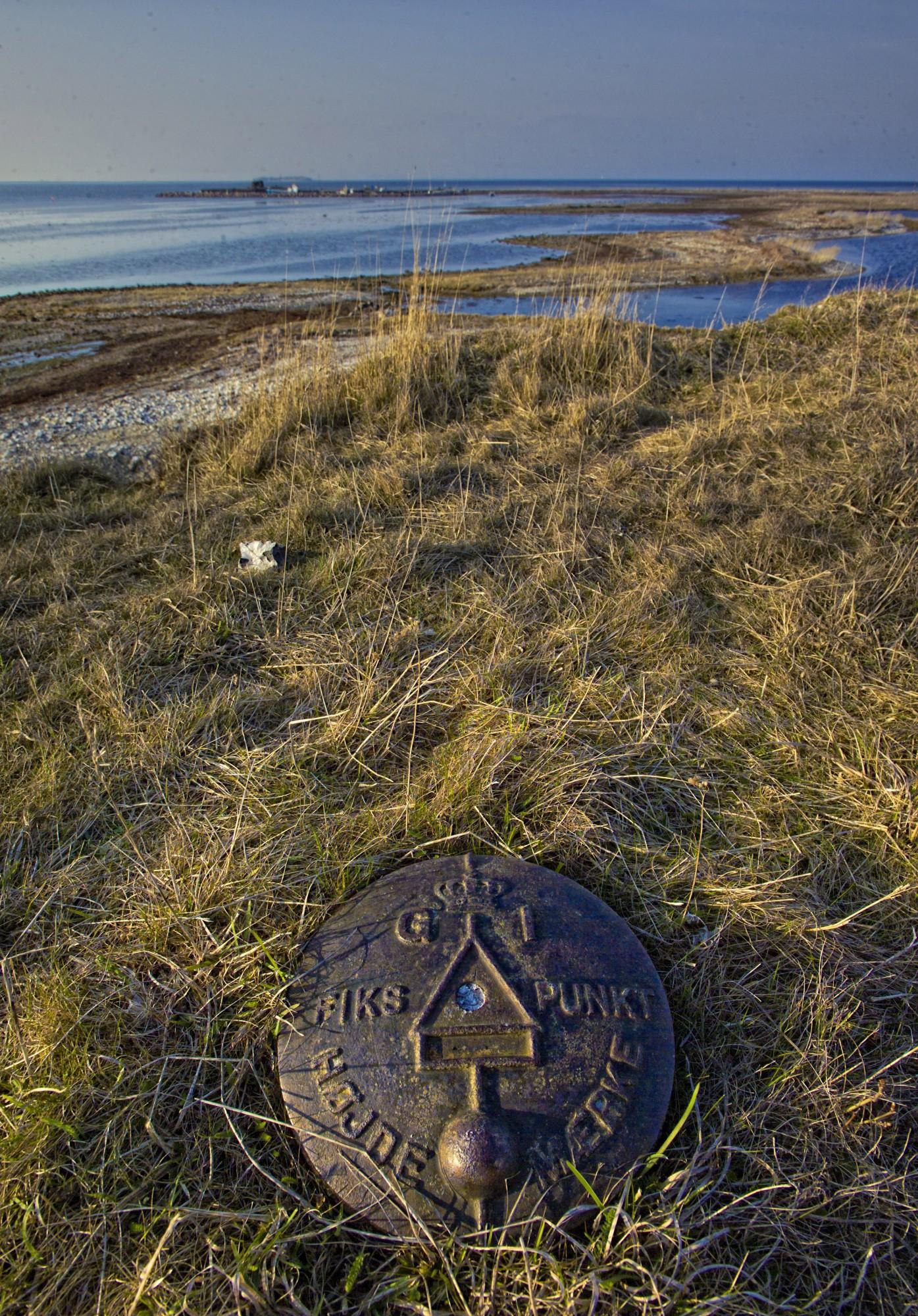 Højdemærke på Saltholm mod nord_ highpiont on Salt