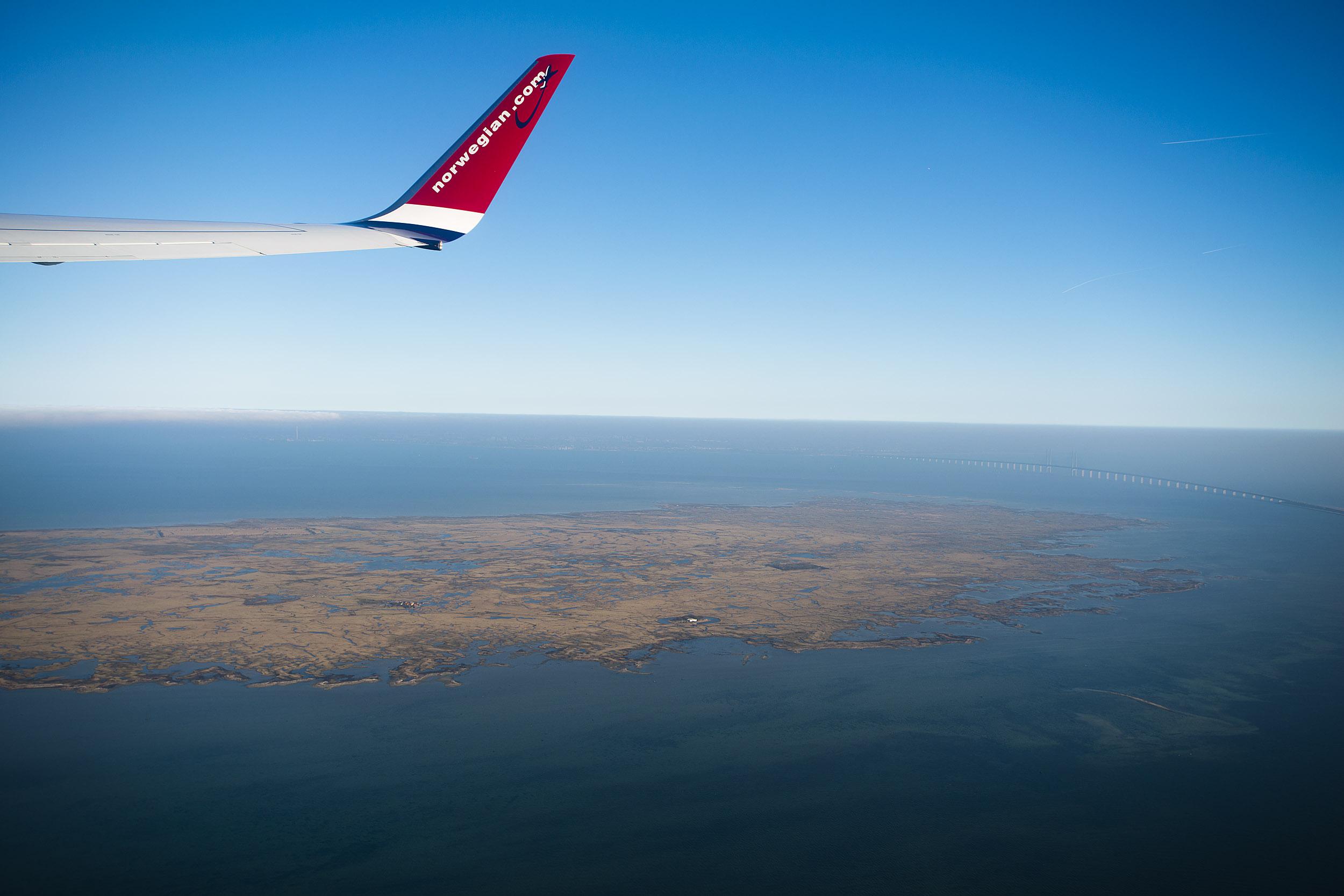 Saltholm, luftfoto set fra københavner siden