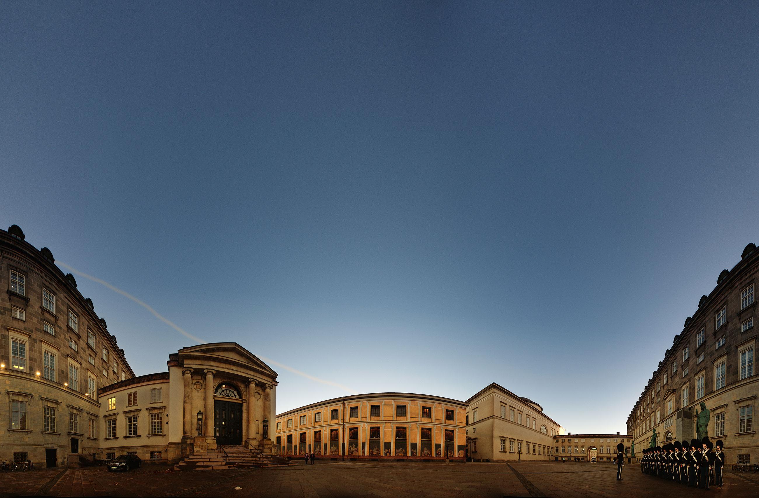 Et panorama foto af Højesteret