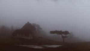 knud Rasmussen hus i tåge