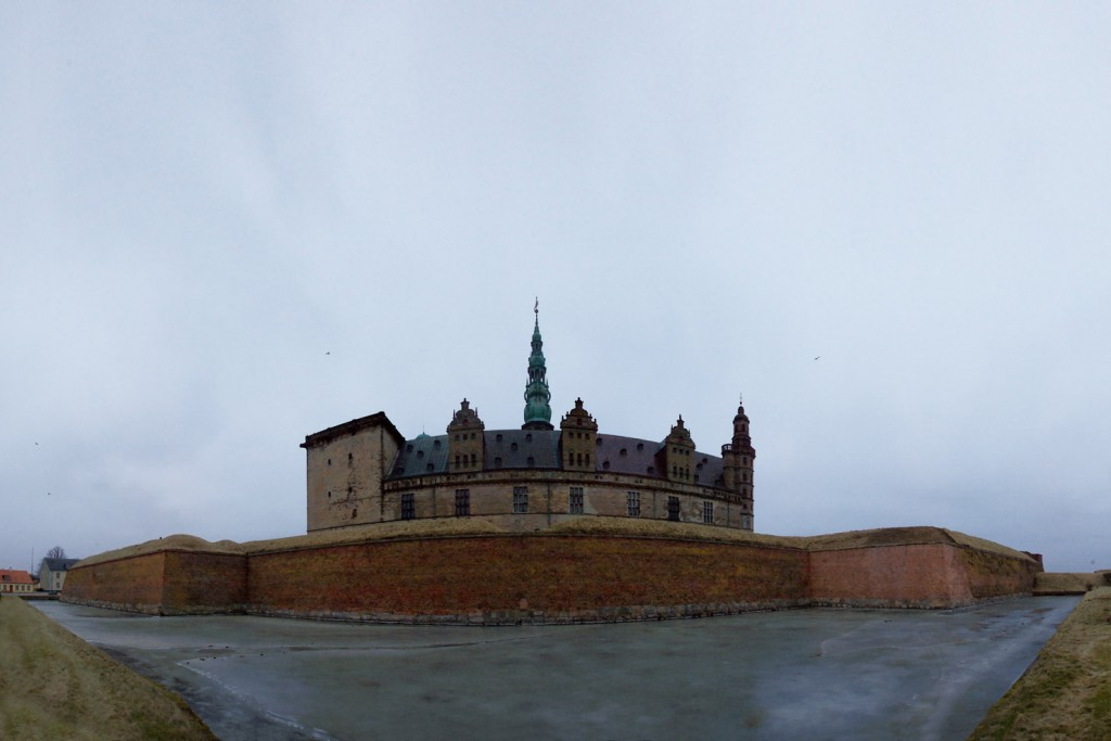 Kronborg slot vinter panorama