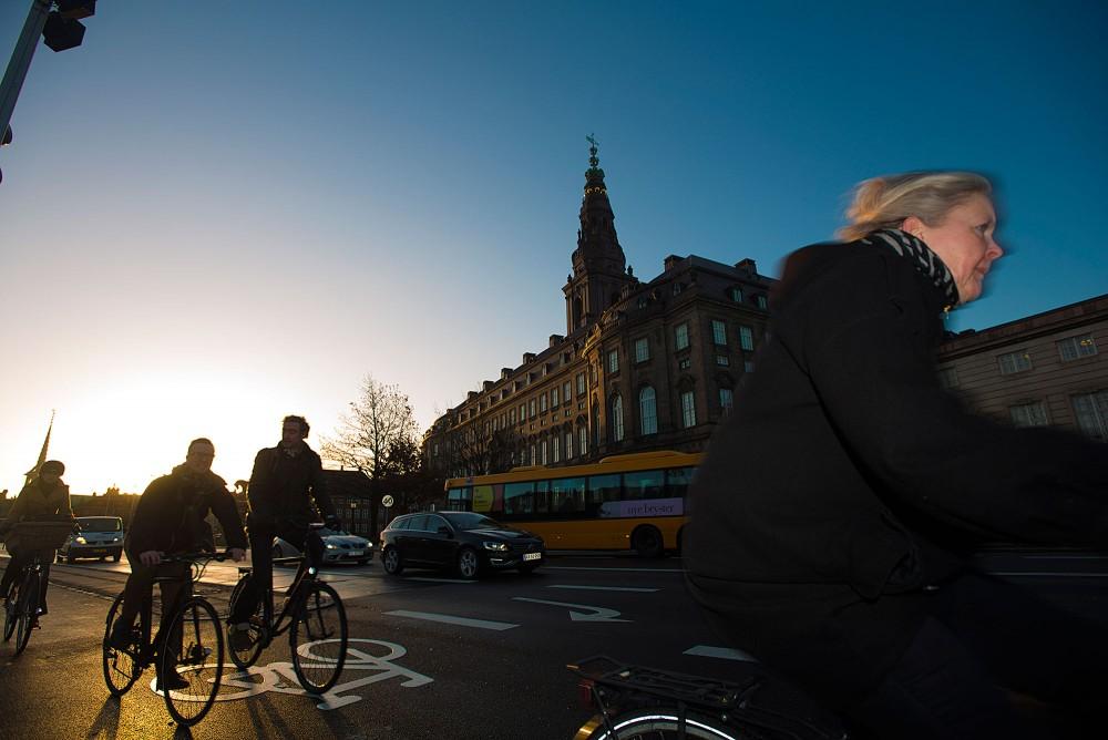Christiansborg og Morgentrafik